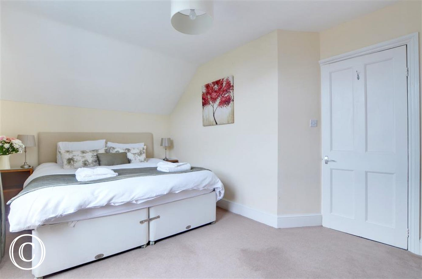 Extremely spacious bedroom with superking size bed