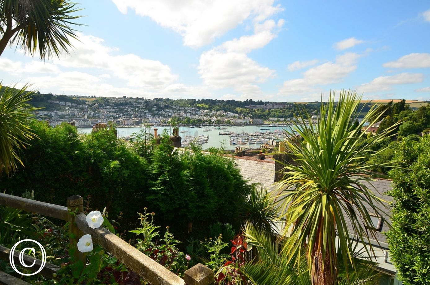 Views from Creekview in Kingswear, overlooking the River Dart