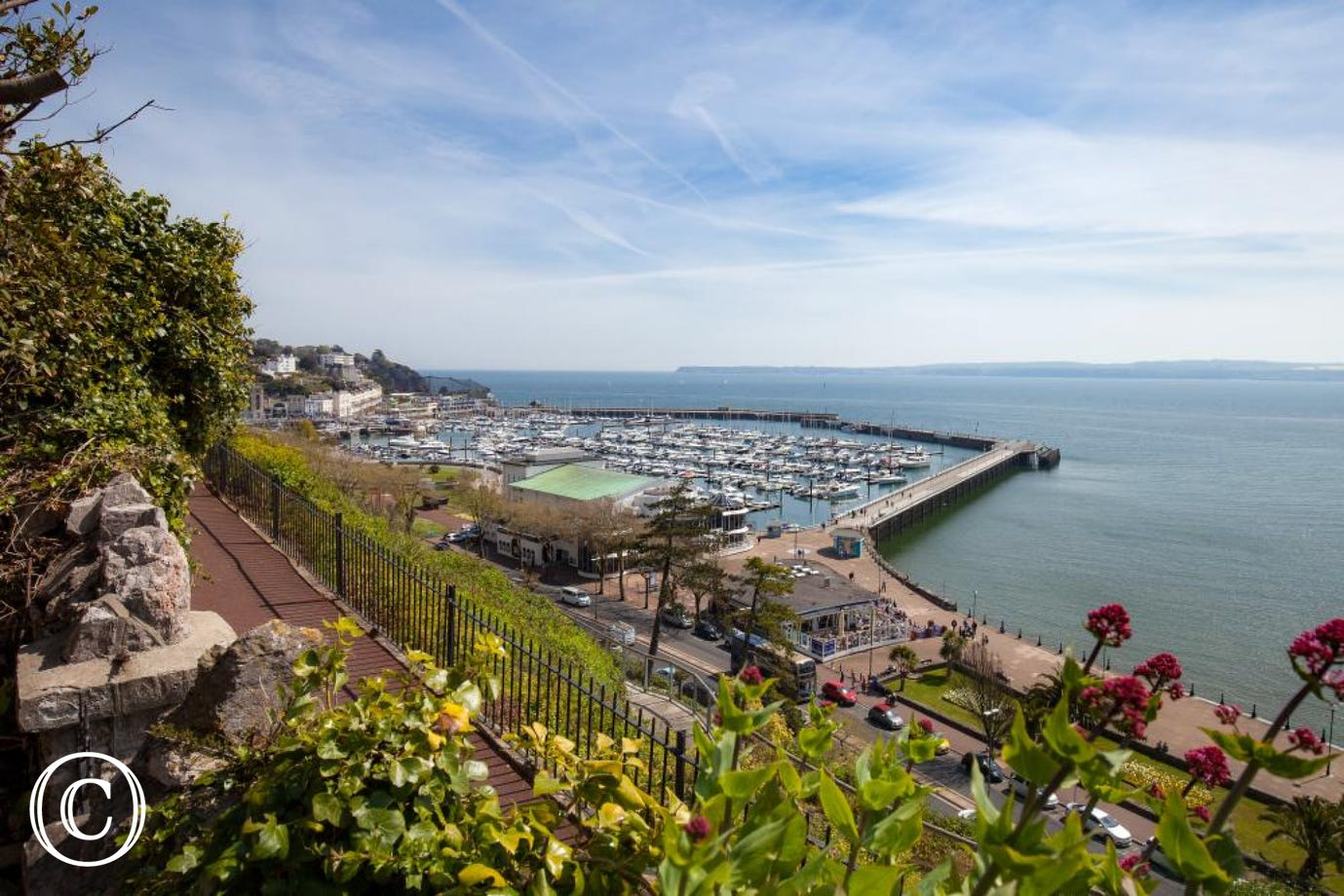 Views over Torquay Harbourside from Admiral's Beach House in Torquay, South Devon