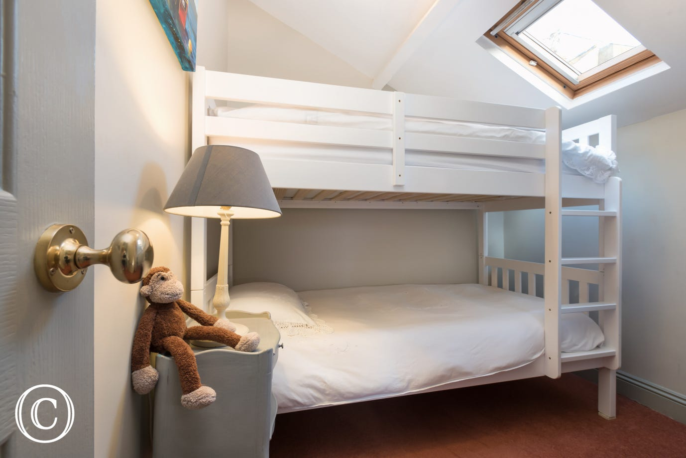Bunk bedroom - Compass Cottage, Shaldon