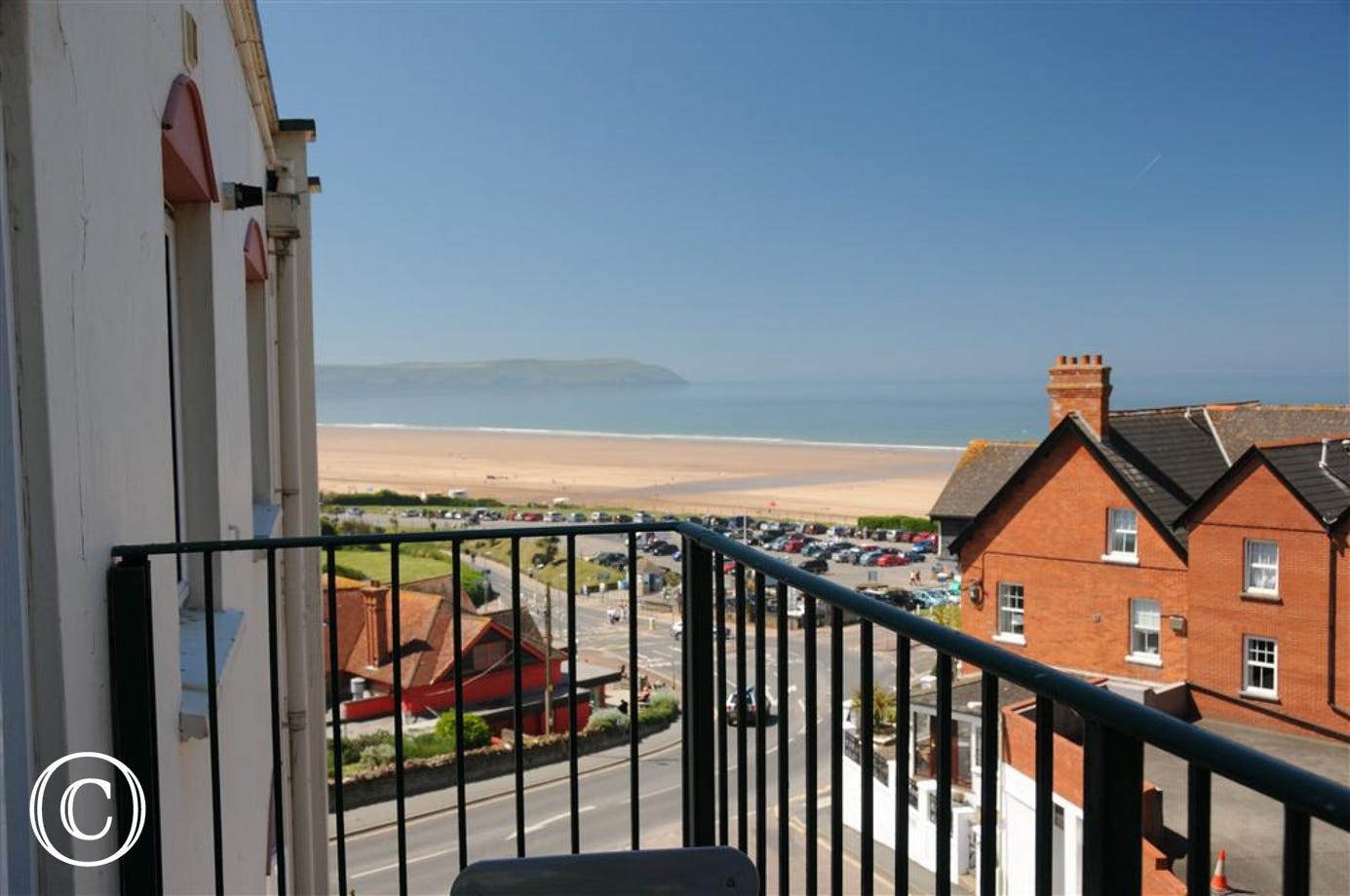 A stylishly furnished apartment with private parking in a great location with a short walk to this blue flag beach