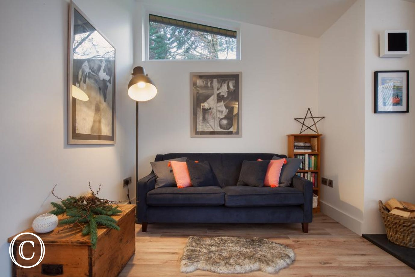 Hygge House, Shaldon - Sofa in the living area