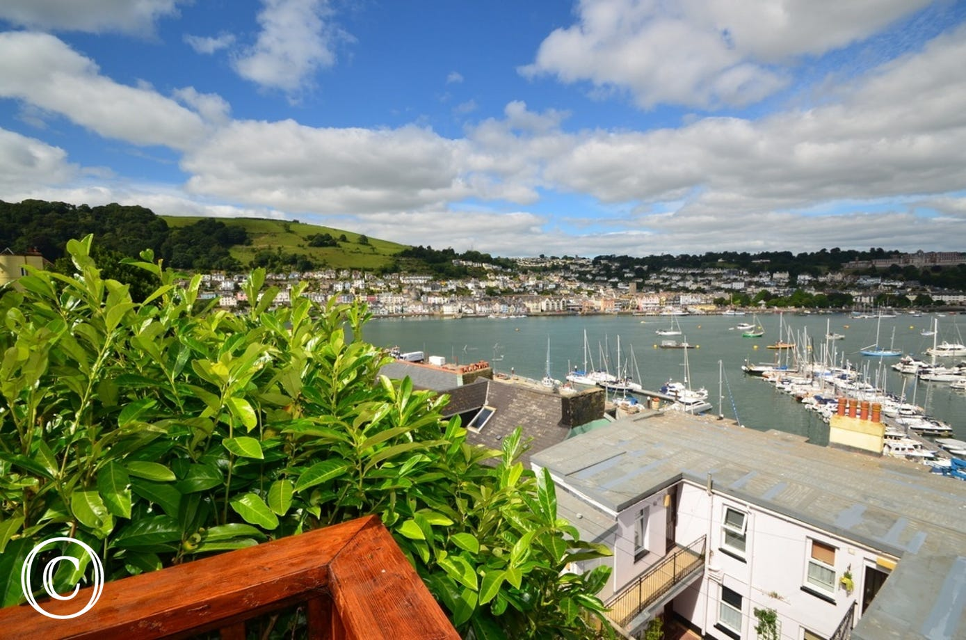 View of the River Dart from Pebble Cottage in Kingswear