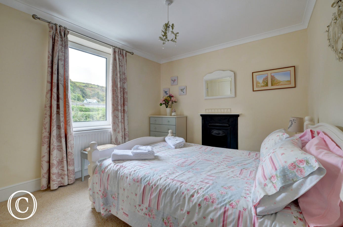 Pretty double bedroom with lovely views