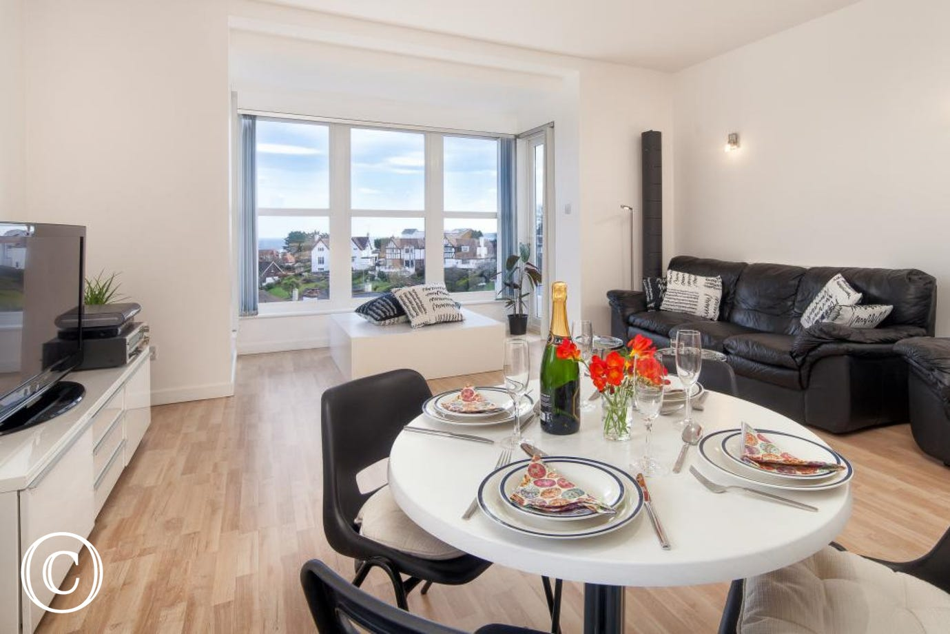 Enjoy Amazing Views throughout Ben's Place, a Modern, Spacious Self-Catering Holiday Home Accommodation Apartment in Torquay, Devon