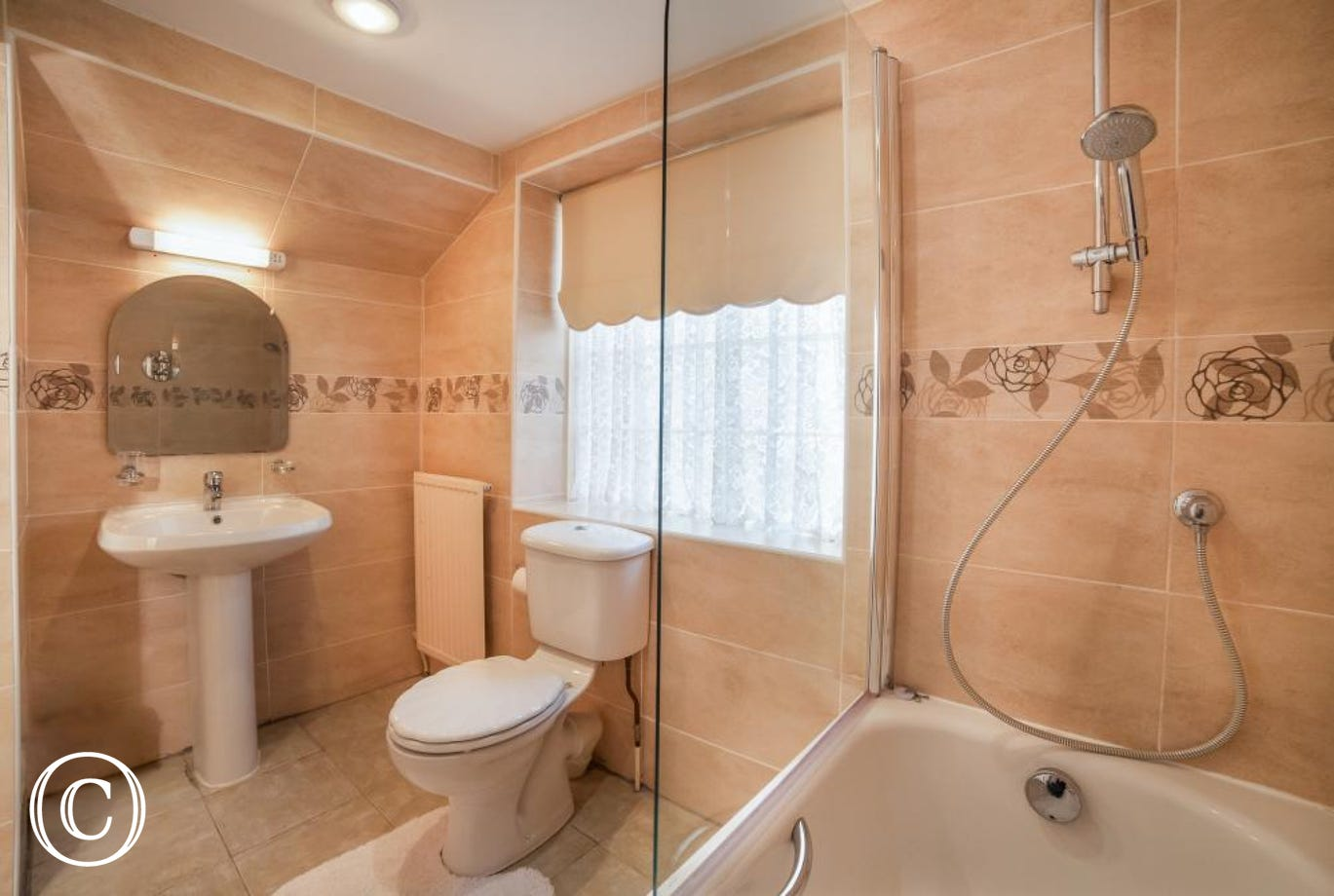Meadfoot Beach Apartment, Torquay - Family bathroom