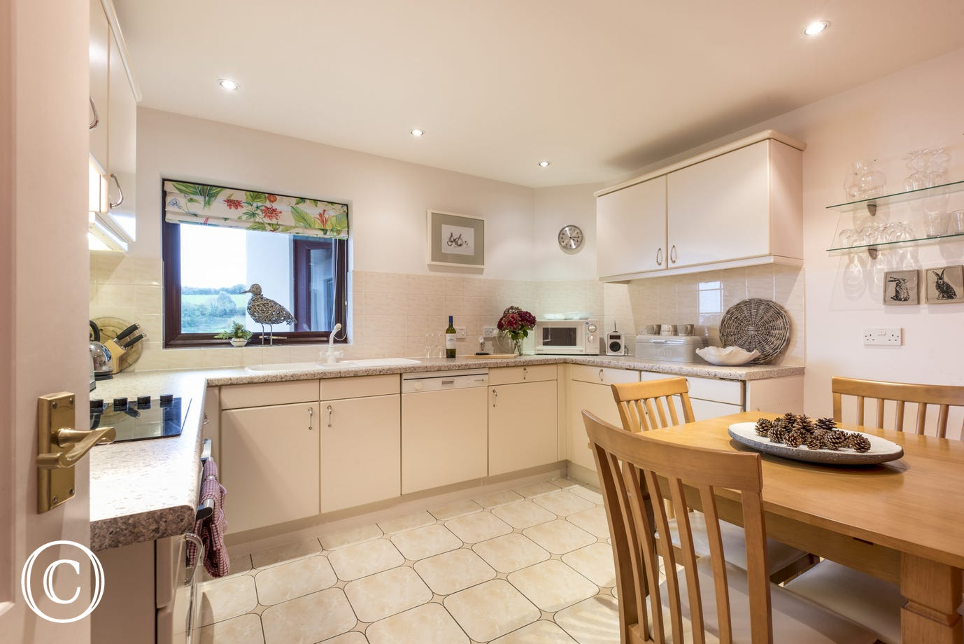 a spacious and well-equipped kitchen with dishwasher, induction hob and oven