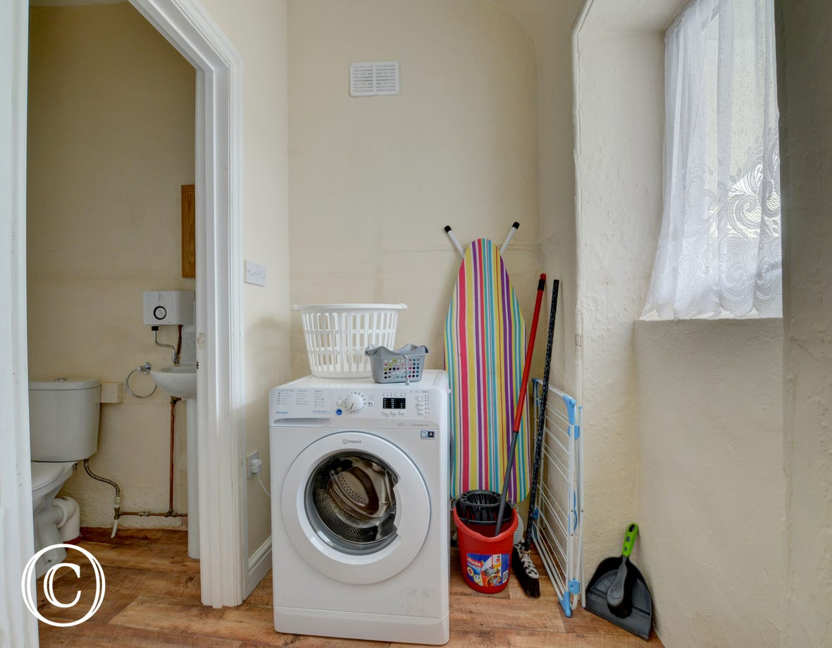Utility room & separate WC