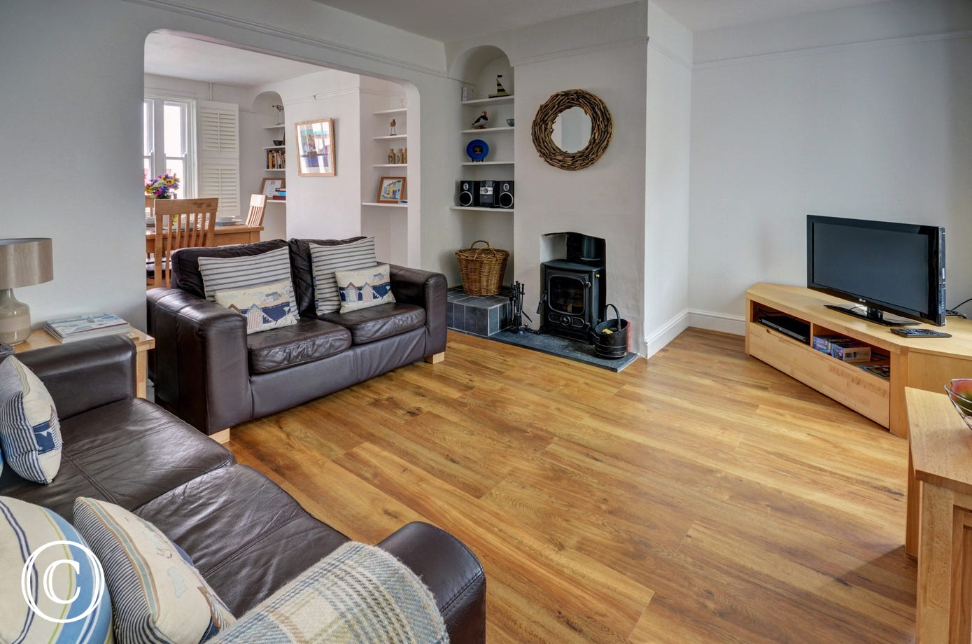Enjoy underfloor heating and cosy woodburner in the sitting room