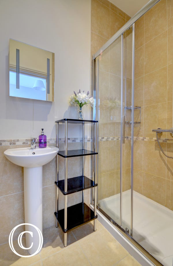 Ensuite bathroom with large shower cubical