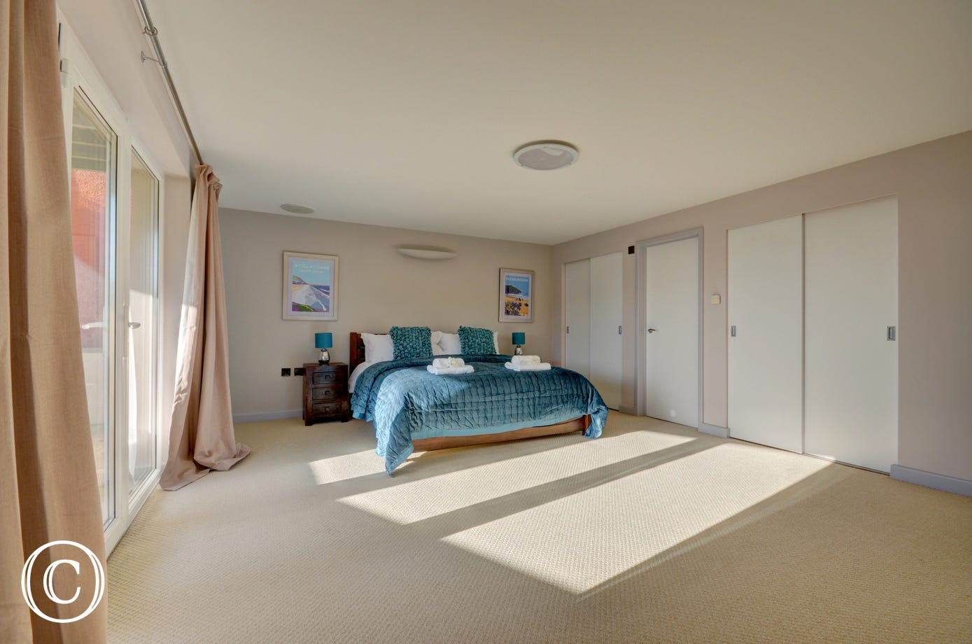 Vast master bedroom with ensuite bathroom