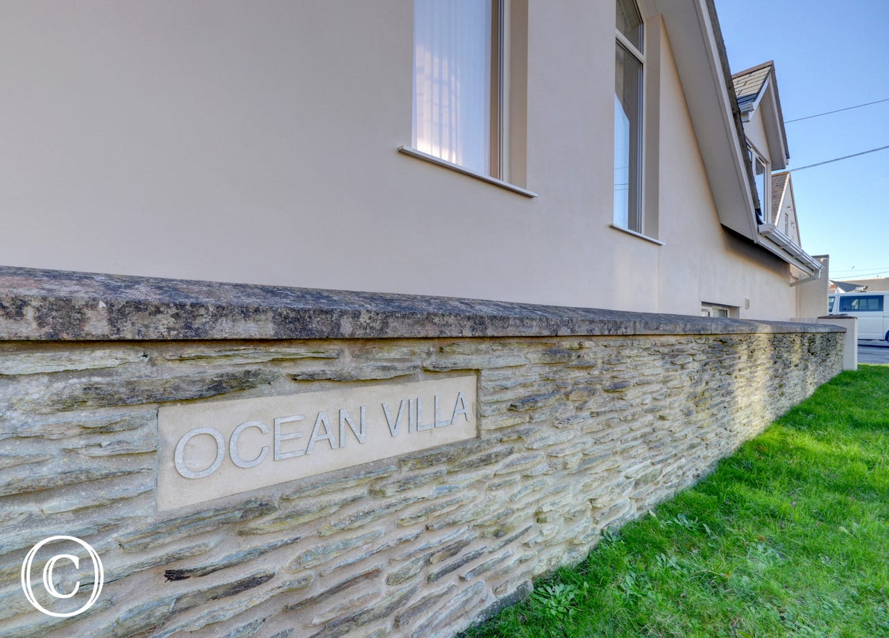 The front of Ocean Villa