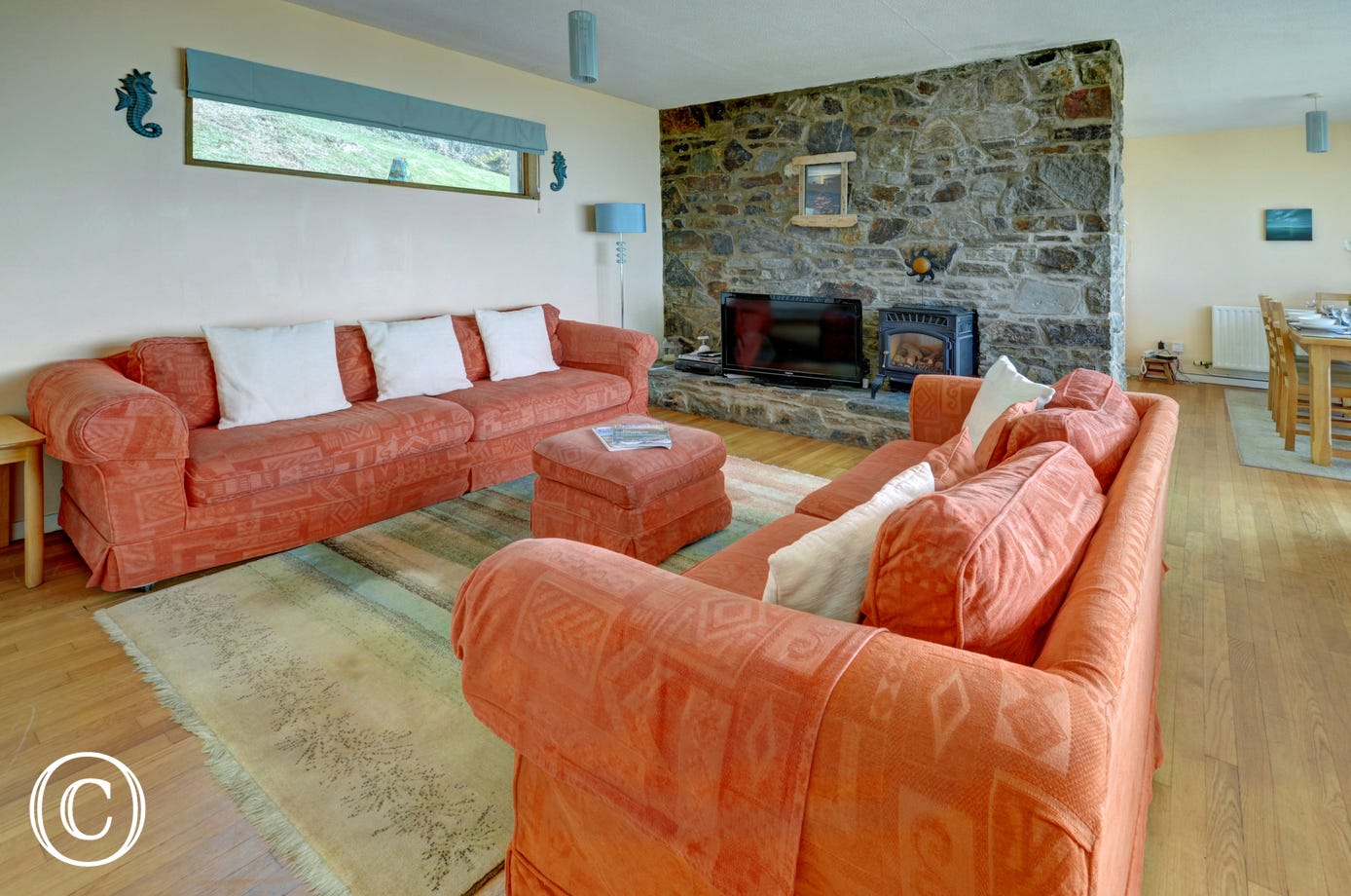 Large comfortable sofas in the relaxing sitting area