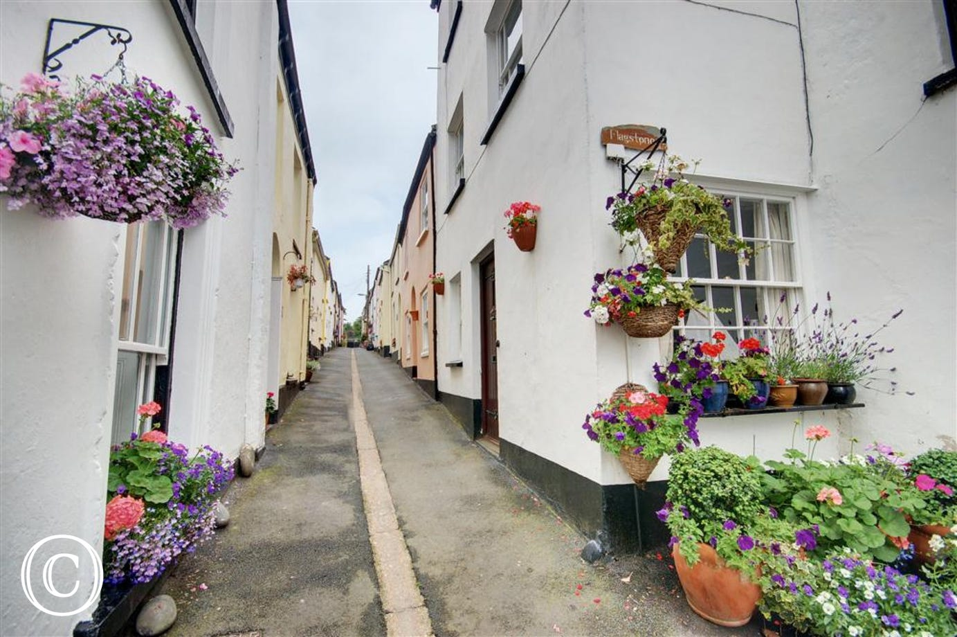 Surrounded by colour washed cottages and with no vehicular access, this part of the village has great charm and character