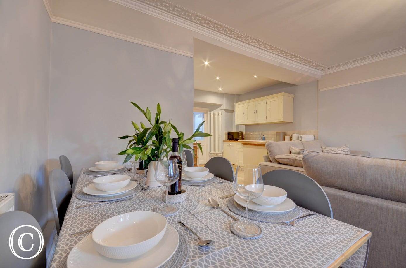 Enjoy dining together is the stylish open plan living area