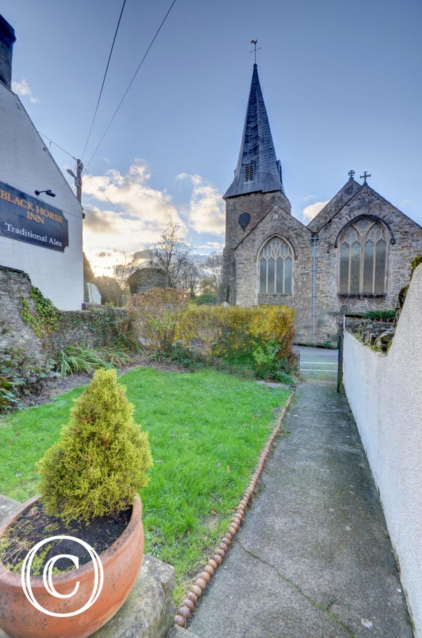 The historic Church of Braunton makes for a nostalgic view