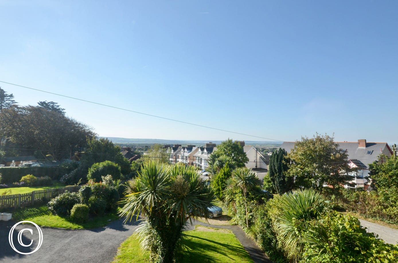 Wonderful views over the village and towards the Taw Estuary and the sea beyond
