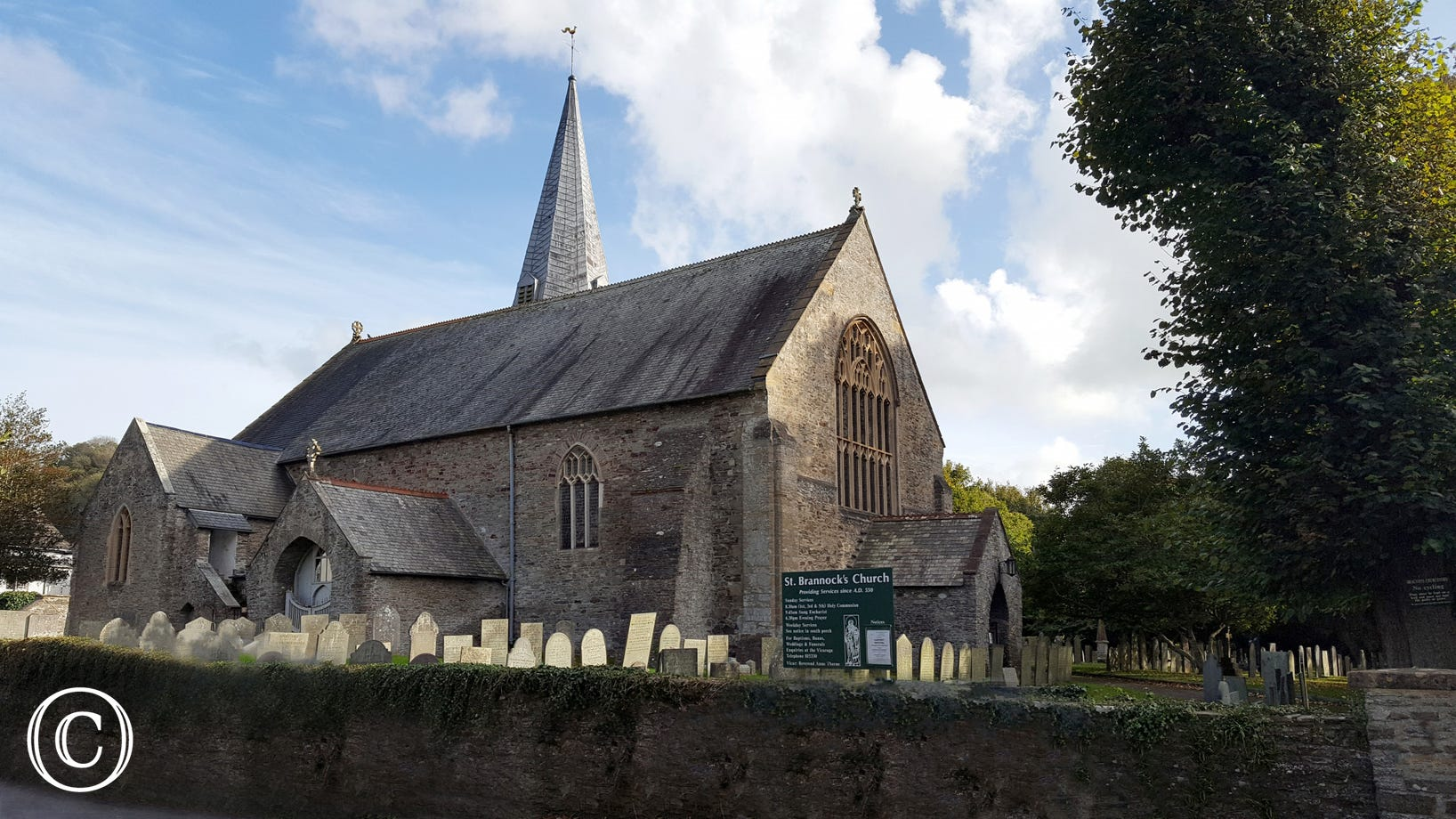 The picturesque Parish Church of Braunton