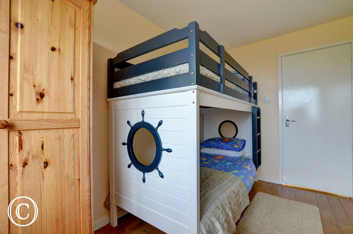 Nautical style bunk beds that the children are sure to love!