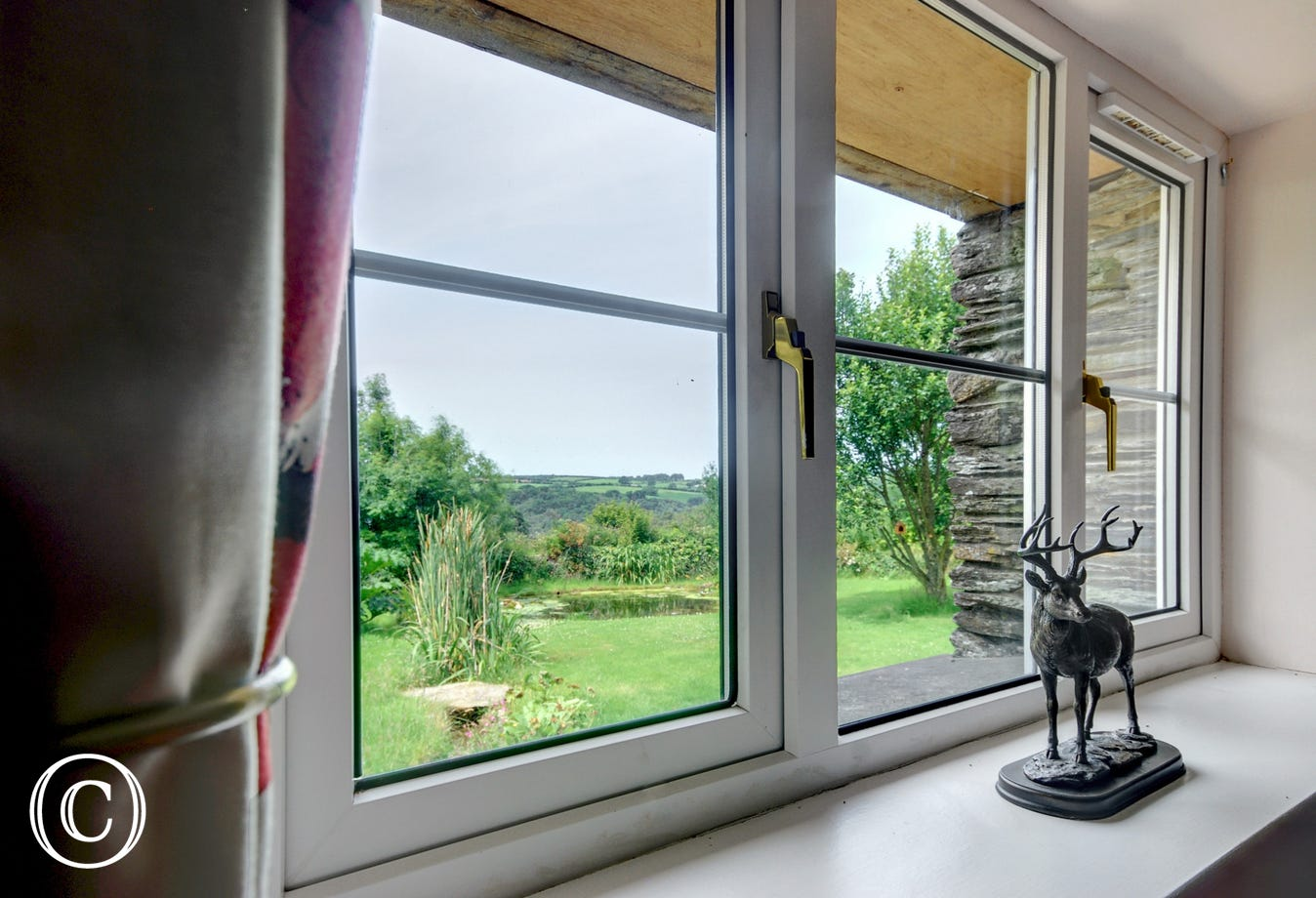 Wonderful views of the garden and surrounding countryside