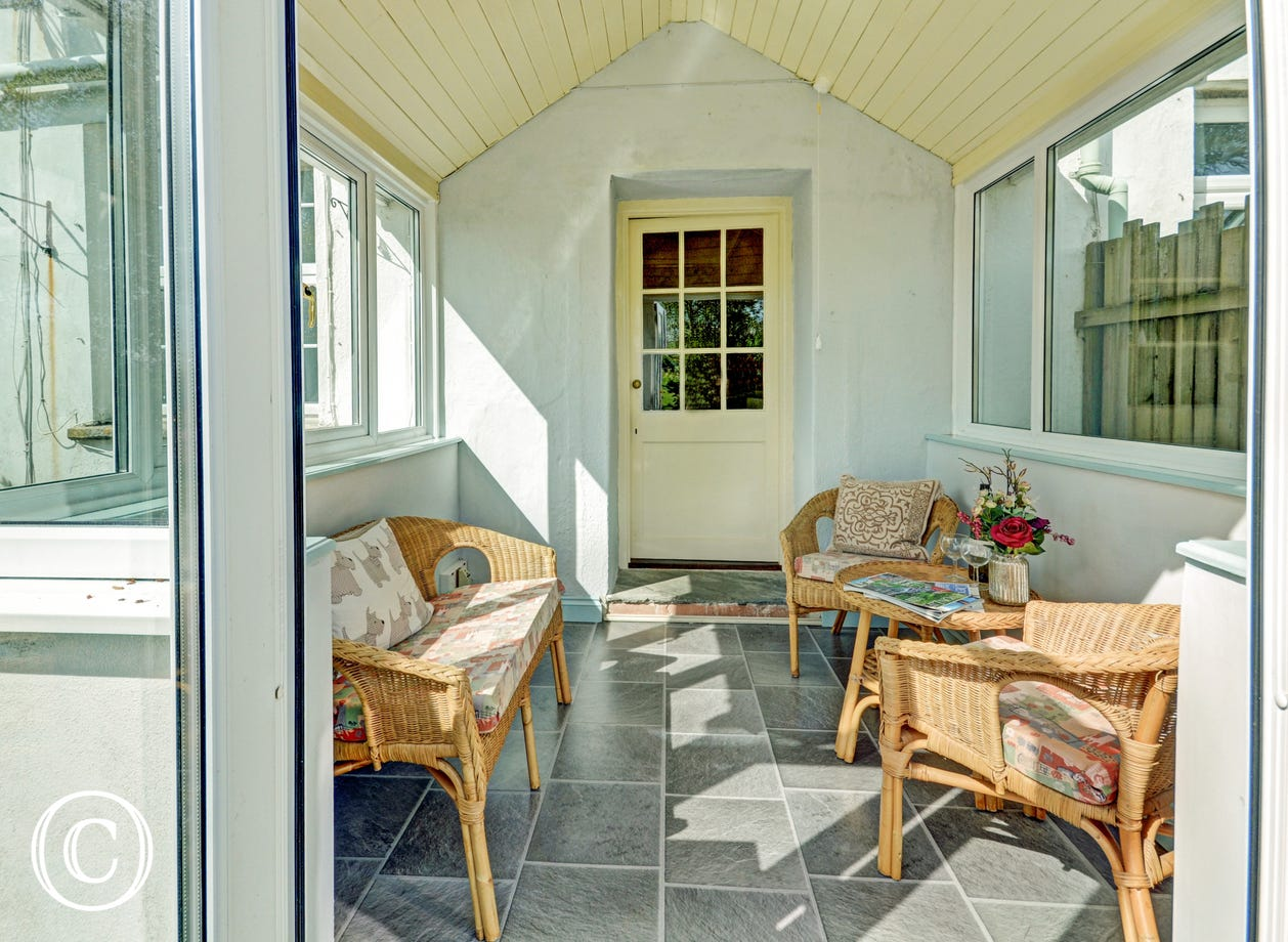 Small conservatory where you can enjoy the country views no matter what the season