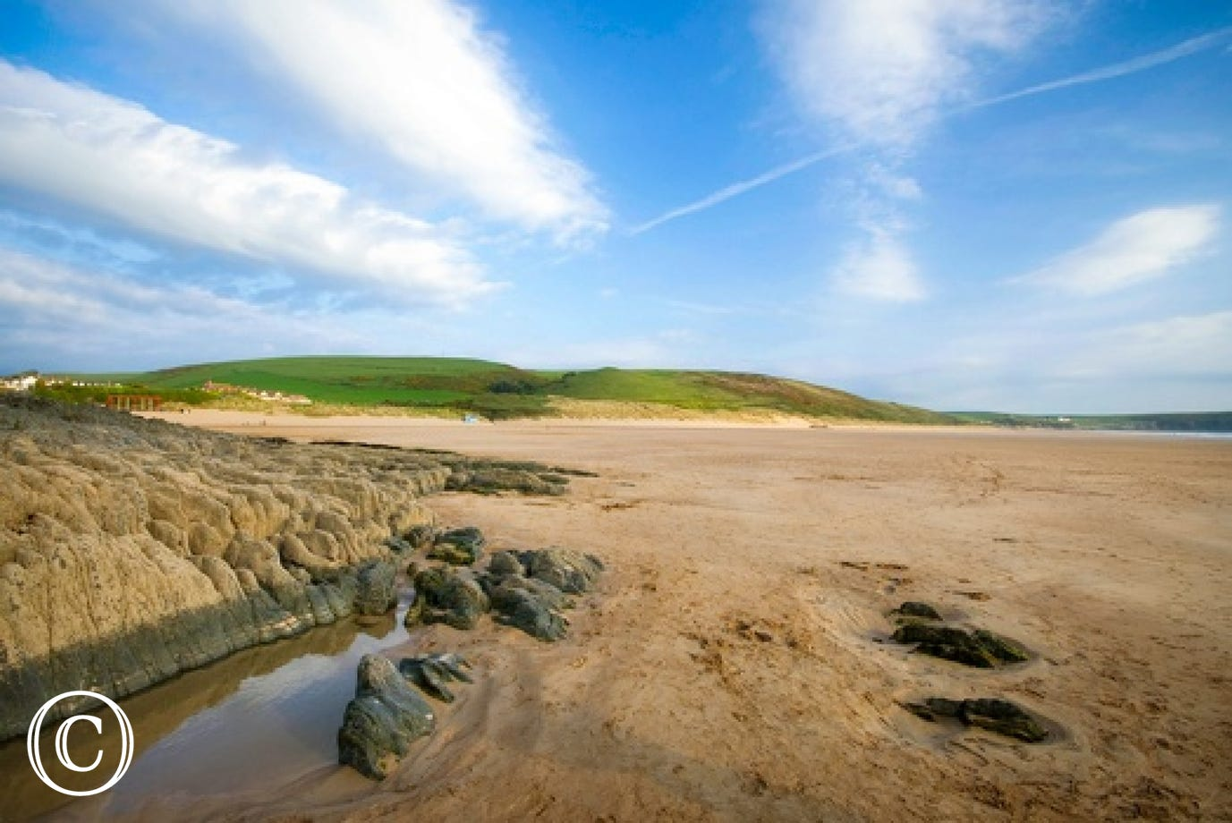 The award winning beach of Woolacombe is just a few minutes walk away