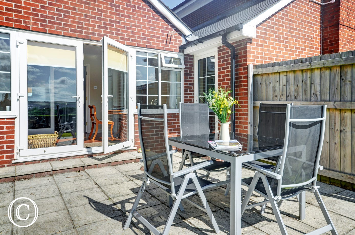 Enjoy al fresco dining on the lovely patio
