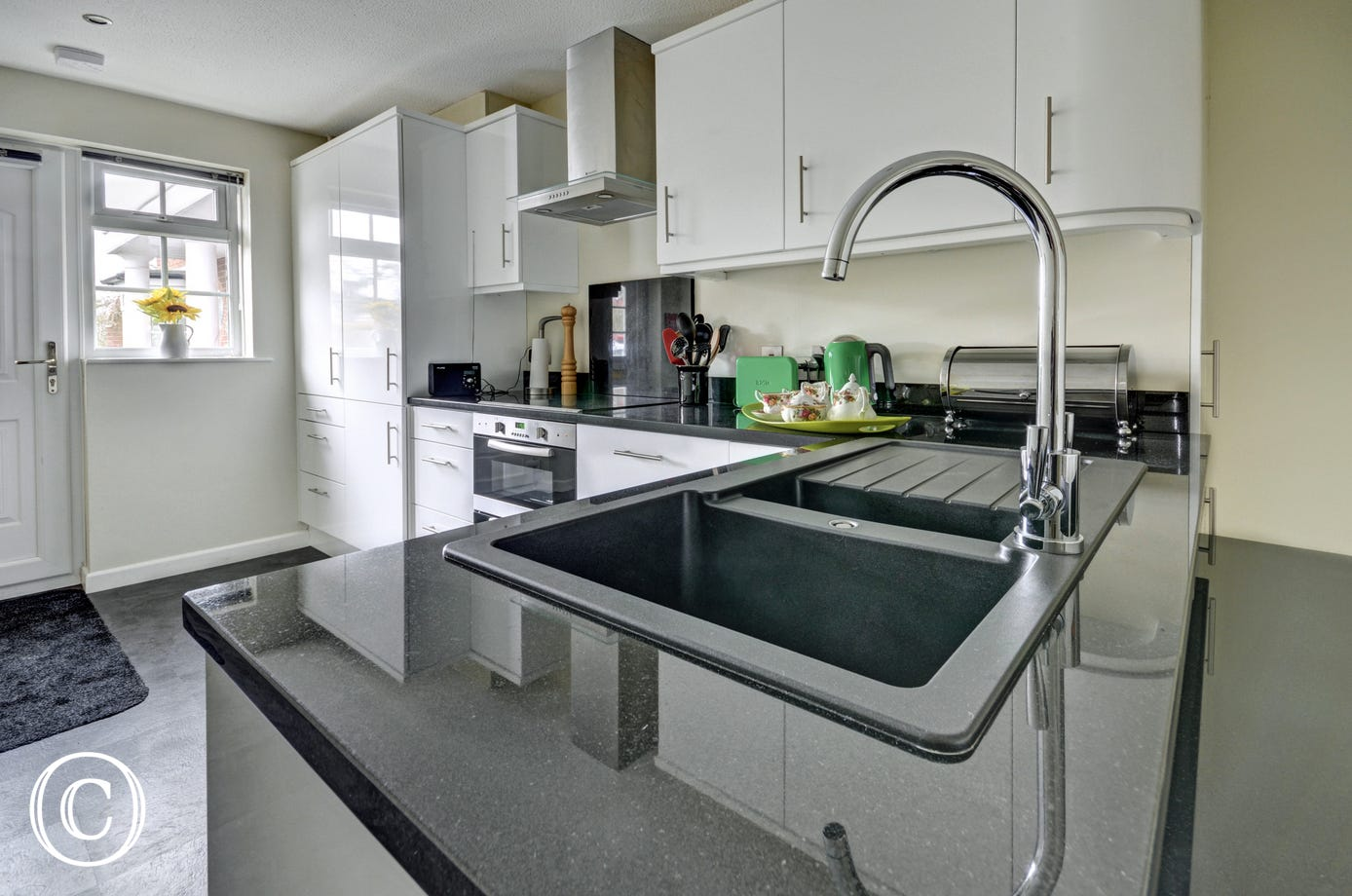 Attractive contemporary kitchen which has everything you need for your stay