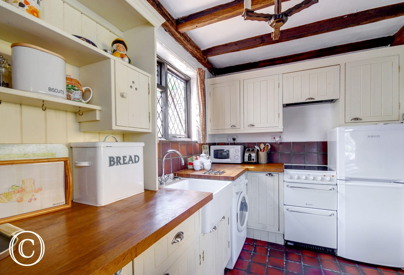 Cottage style kitchen with everything you need for your stay
