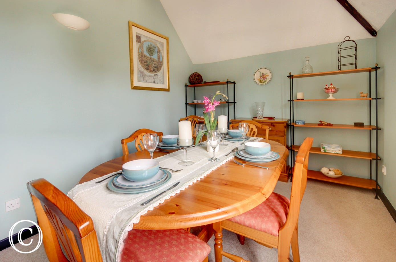 Enjoy fine dining together in the separate dining room