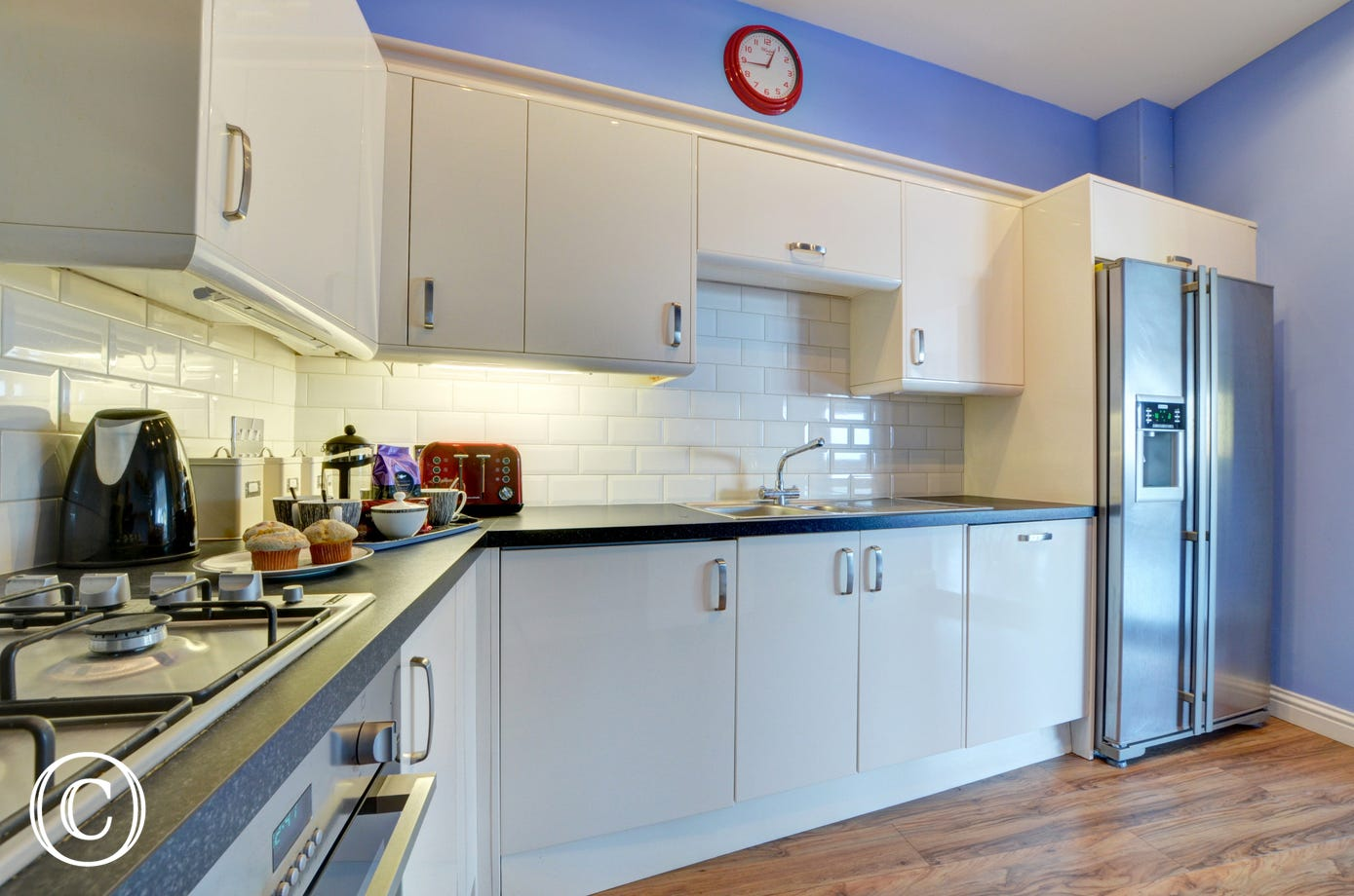 Plenty of space to prepare meals in the lovely kitchen
