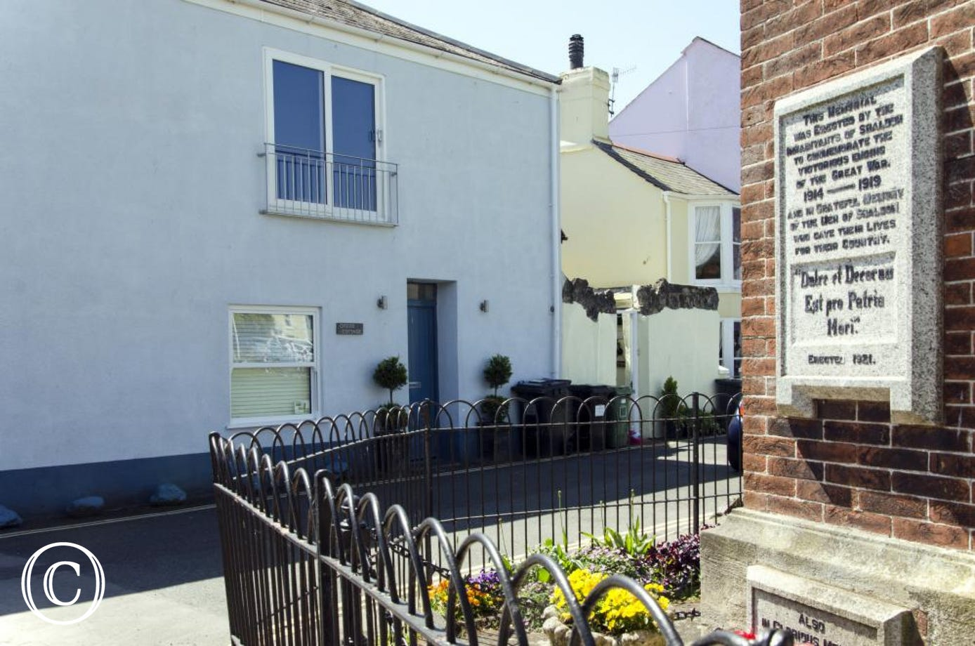 Oyster Cottage, just on the corner of Shaldon infamous Bowling Green & opposite The London Inn!