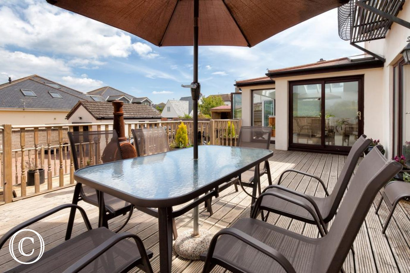 Enjoy Relaxing in the Sun, or Al Fresco Dining on the Deck!