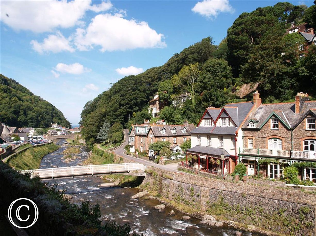 Amazing views down the river and of the quaint village of Lynmouth