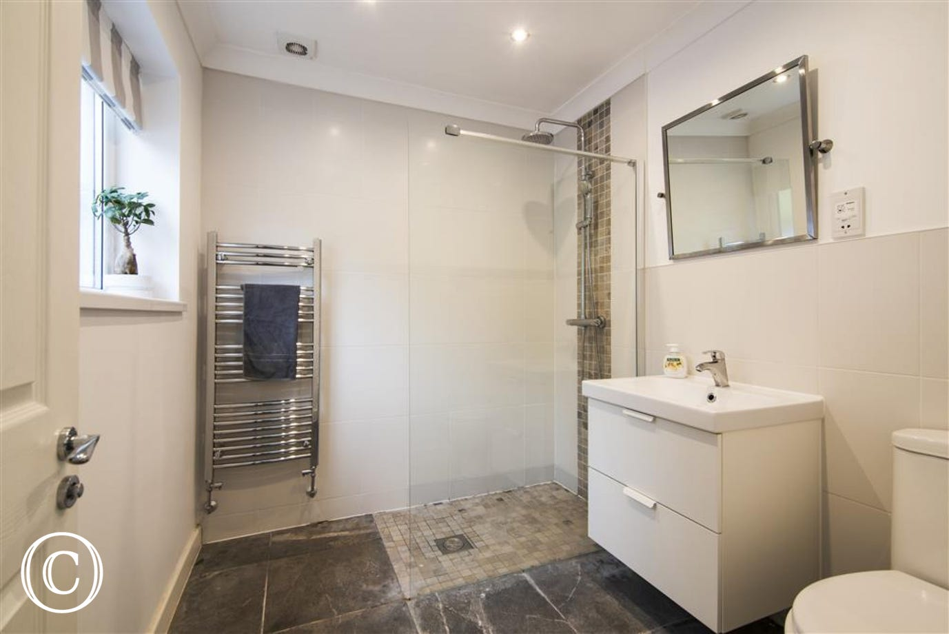 En-suite shower room to master bedroom.