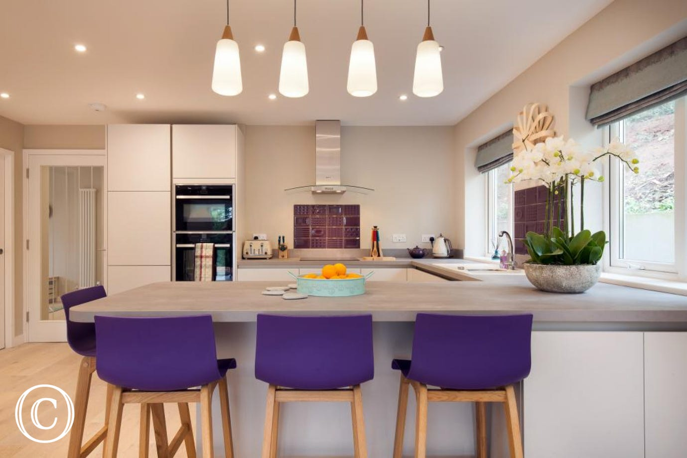 Brilliantly spacious kitchen and dining room!