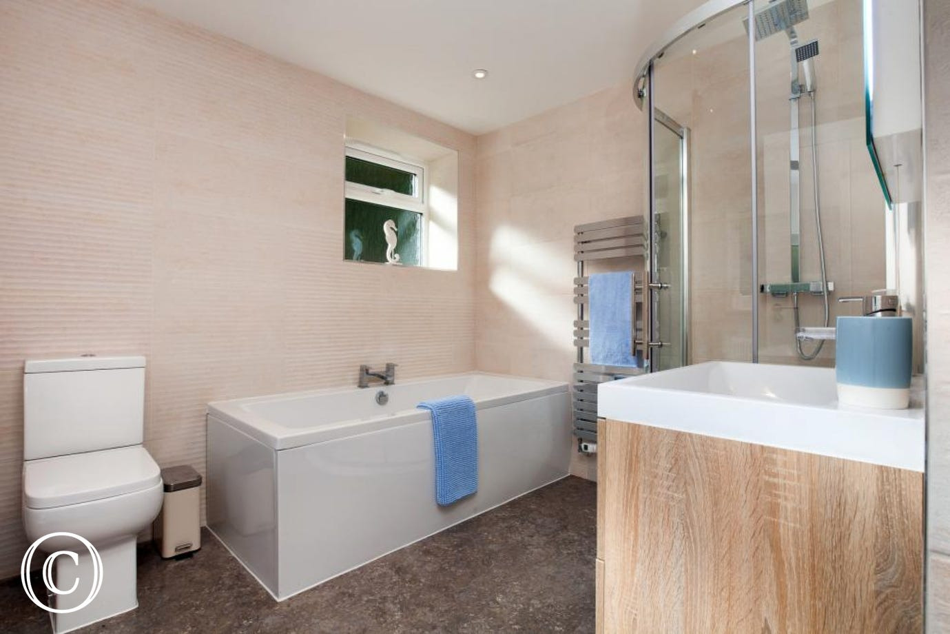 Ground floor bathroom at Ness Dene House