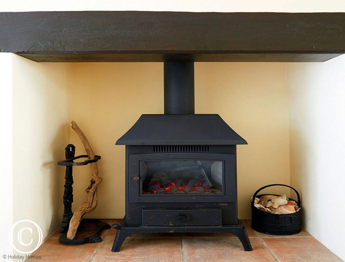 Quayside Cottage Teignmouth - Cosy Electric Fire