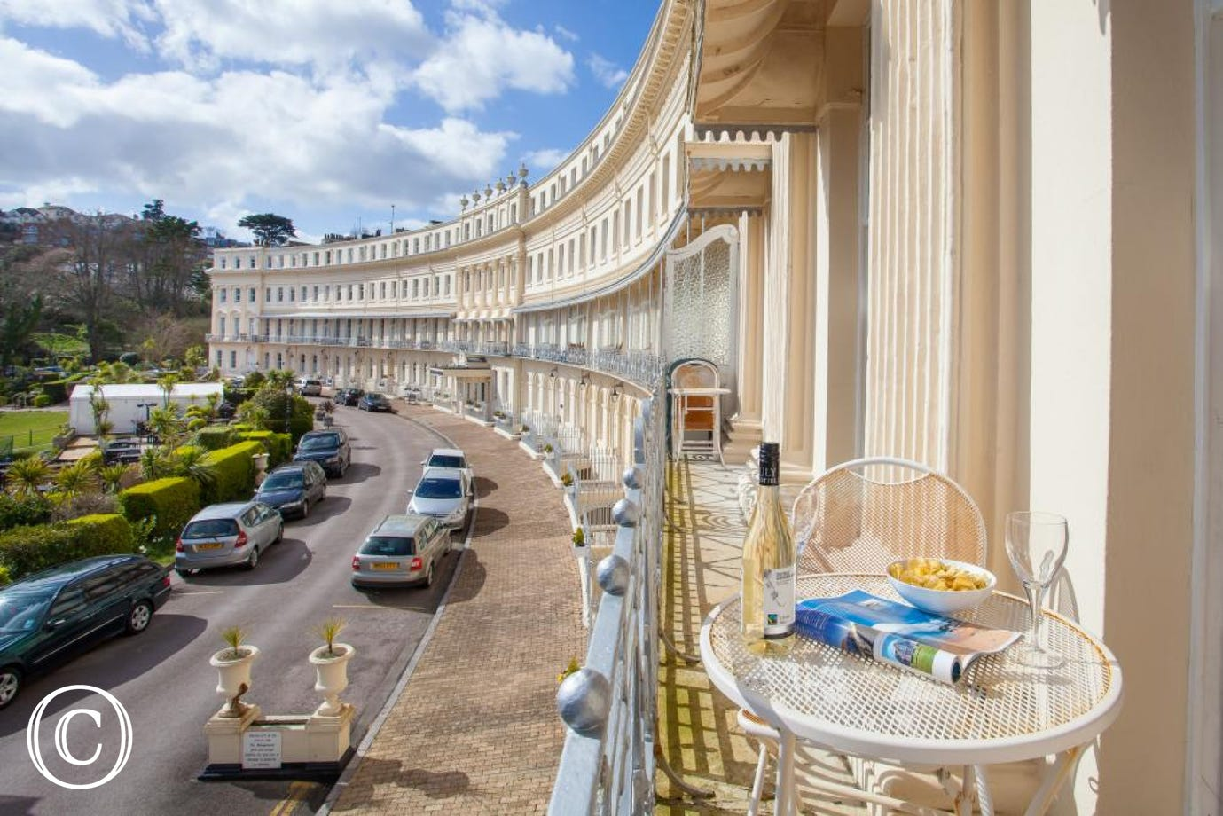 The House is at the Far End of the Iconic Hesketh Crescent in Torquay