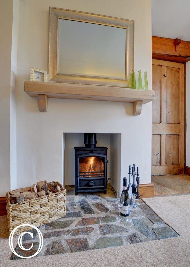 The lovely woodburner will make those cooler evenings so cosy