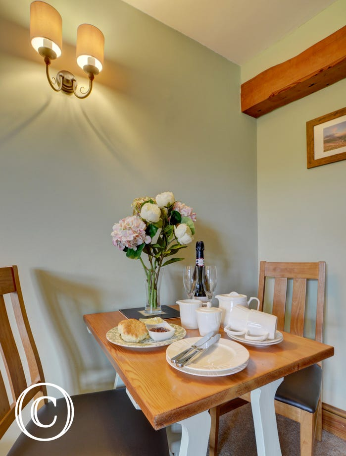 Enjoy a Devon cream tea for two on arrival!