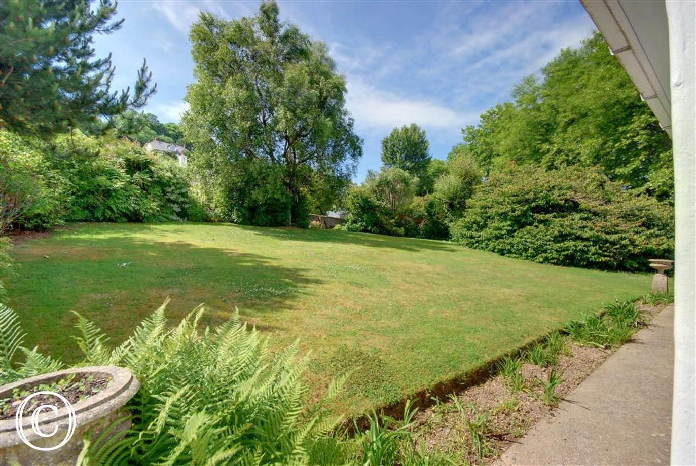 Large well kept lawn, ideal for the children to play or just lie in the sun