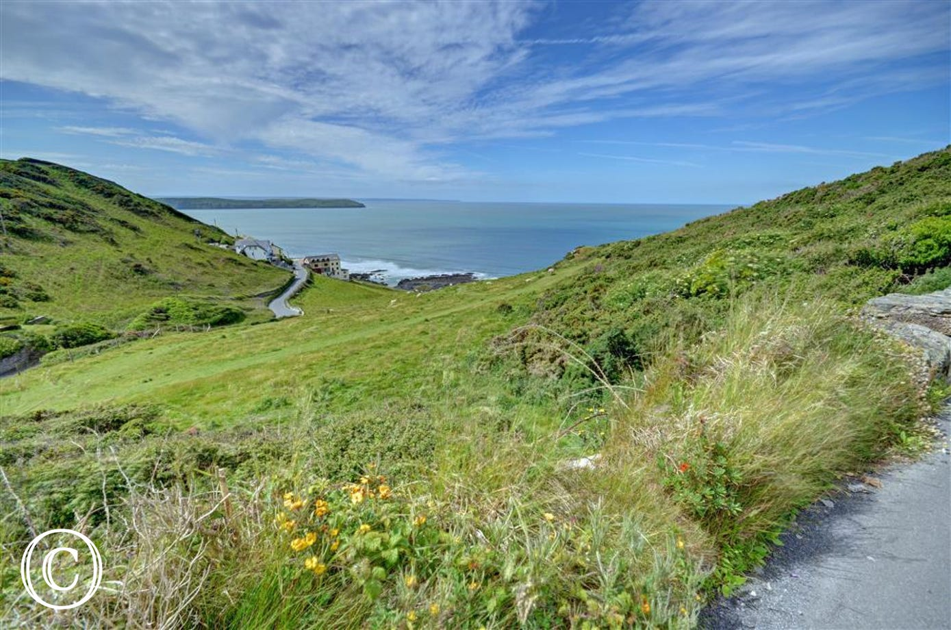 Uninterrupted views of the whole of Woolacombe Bay and out to Lundy Island