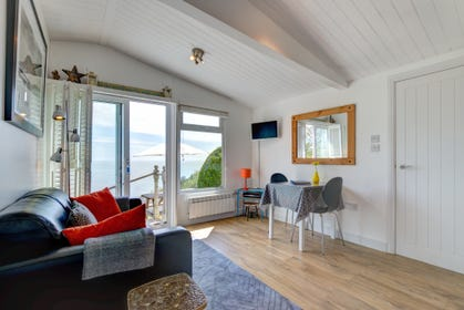 Open plan living area at Little Seawatch