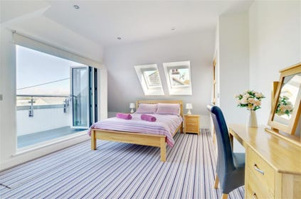 Fantastic master bedroom with balcony and ensuite bathroom
