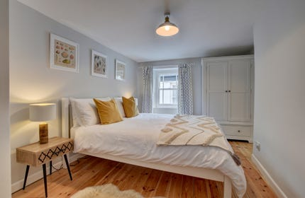 The attractive double room which is at the front of the property