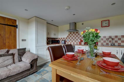 The property has a lovely open plan living area which is great for socialising together