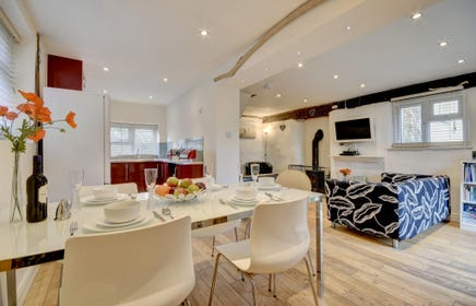 Open plan living area is a great place to socialise