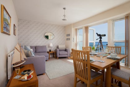Bright and Spacious Living Area in South Devon Holiday Apartment