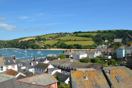 View of Salcombe Harbour from the wrap around balcony at 1 Charborough House